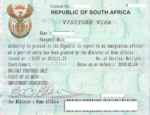 Получение разрешения на временное проживание в ЮАР