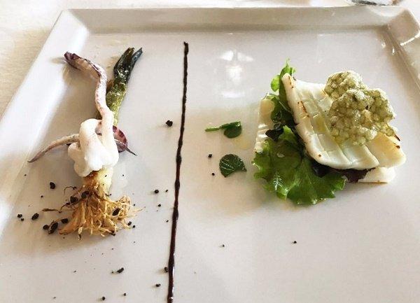 Одно из блюд в ресторане Locanda dell'Angelo