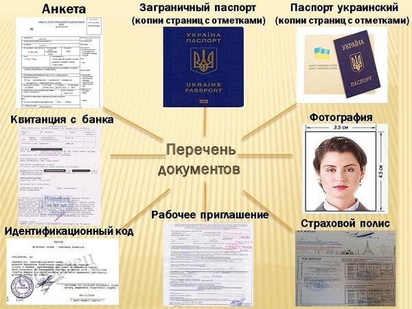 документы для получения рабочей визы