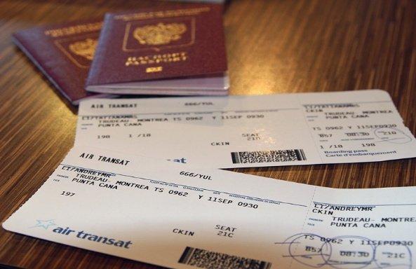 загранпаспорт, билеты на самолет