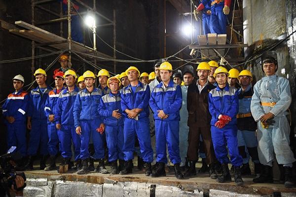 Работники в Таджикистане