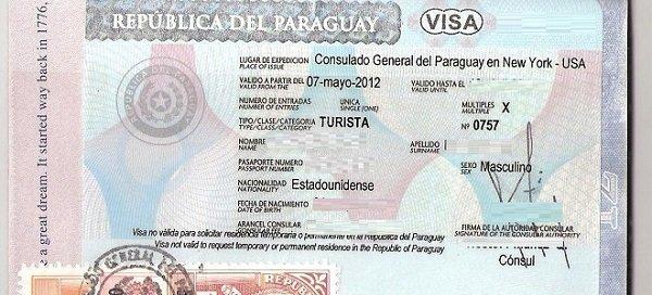 виза в Парагвай