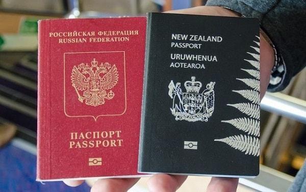 Паспорта РФ и Новой Зеландии