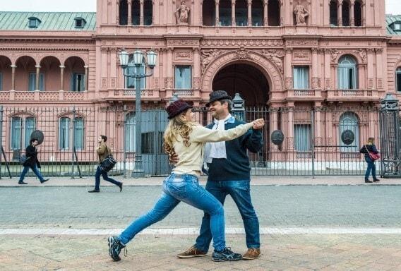 Уличный танец в Аргентине