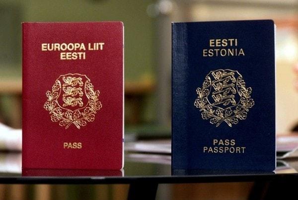 Европейский и эстонский паспорта