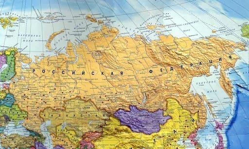 Российская Федерация на карте мира