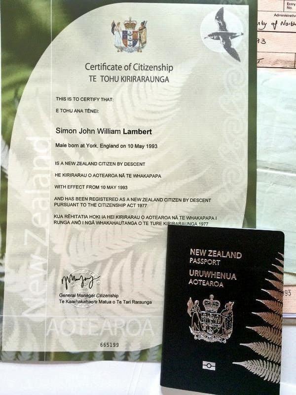 Сертификат гражданина